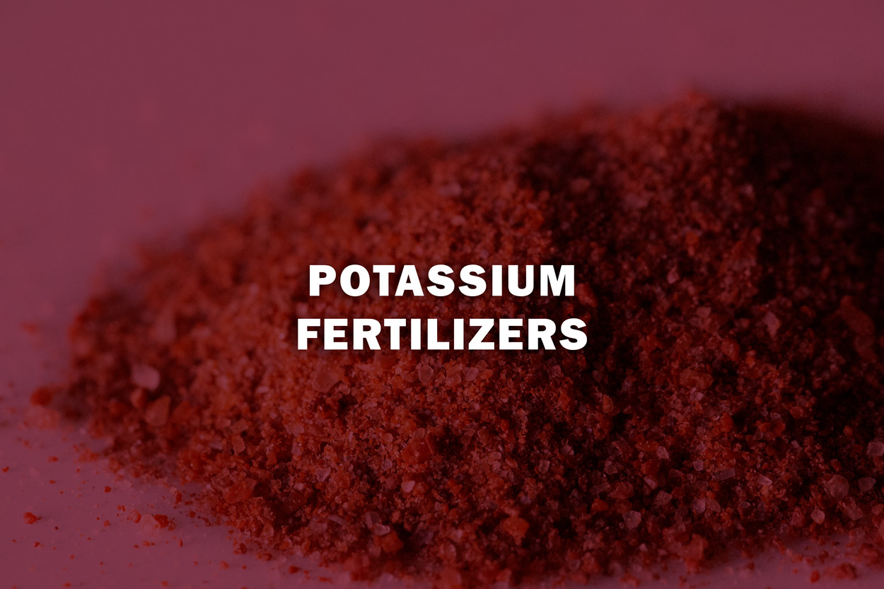 - Potassium helps optimise agricultural production.
